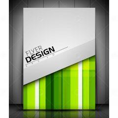 وکتور بروشور تجاری طرح انتزاعی زمینه سبز
