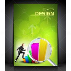 بروشور وکتور فلایر طراحی تجاری خاص زمینه سبز