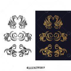 وکتور طرح های سنتی و بته جقه اروپایی