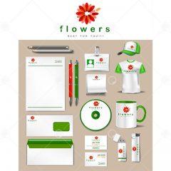 دانلود وکتور ست اداری تجاری طراحی 3 رنگ