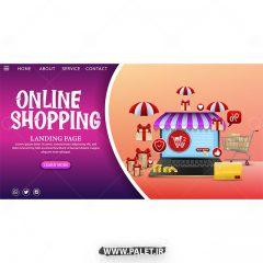 دانلود وکتور قالب آماده سایت طرح فروشگاه آنلاین