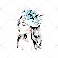 دانلود وکتور مد و فشن کلاه و گیره سر دخترانه