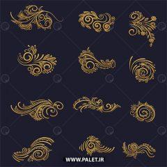 وکتور بته جقه و پترن سنتی تزئینی اروپایی