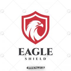 دانلود وکتور لوگو عقاب با رنگ قرمز و سفید