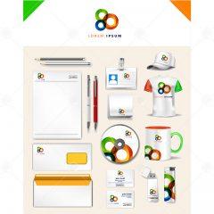 دانلود وکتور ست اداری تجاری طراحی 3رنگ