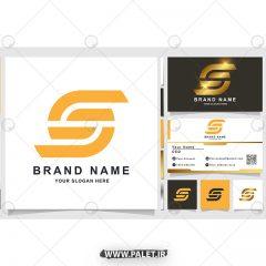 لوگو و کارت ویزیت لایه باز شرکتی به صورت وکتور