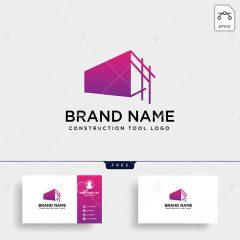 دانلود وکتور کارت ویزیت و لوگو طرح تجاری زمینه بنفش