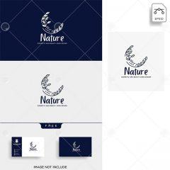 دانلود وکتور کارت ویزیت و لوگو طرح طبیعت