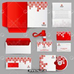 دانلود قالب سربرگ ست اداری کامل با رنگ جذاب قرمز