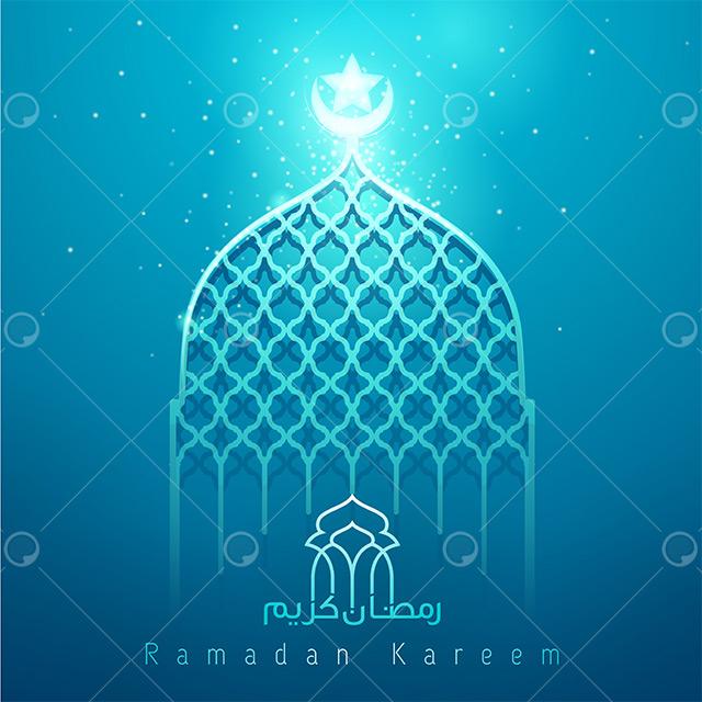 طرح  محراب وکتور لایه باز ماه رمضان