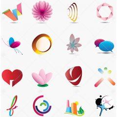 طرح های وکتور لوگو خلاقانه رنگی