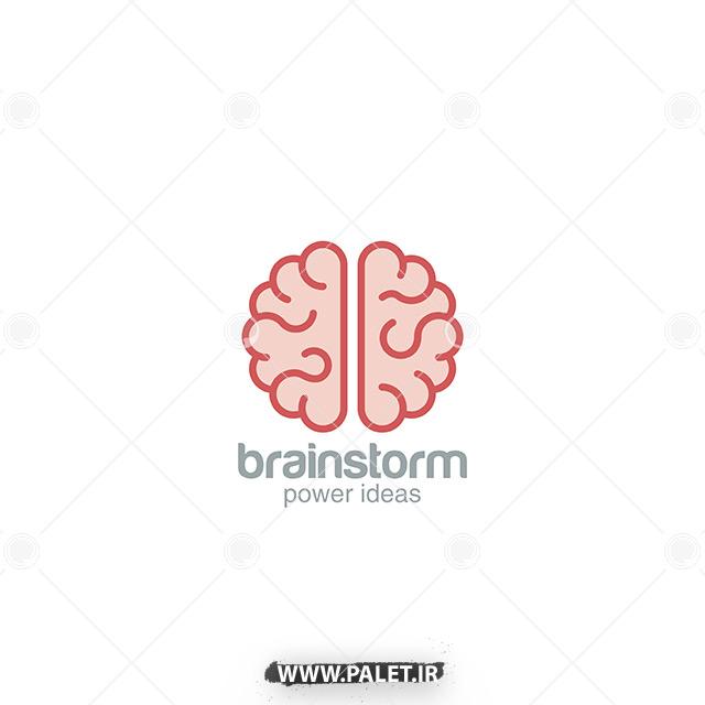 وکتور لایه باز آماده لوگو مغز