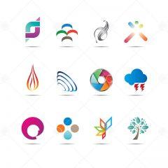 طرح های لوگوی آماده وکتور با موضوعات متنوع