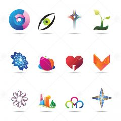 دانلود مجموعه طرح های لایه باز لوگو با فرمت eps