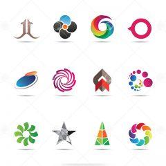 دانلود مجموعه وکتور لوگو با طرح های طبیعت