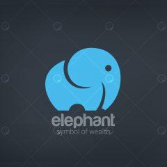 لایه باز وکتور لوگو با طرح فیل آبی