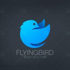دانلود لوگوی پرنده در حال پرواز آبی رنگ