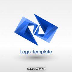 وکتور لوگوهای آماده لایه باز با طرح آبی جدید