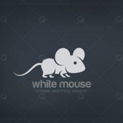 وکتور زیبای خلاقانه لوگو موش سفید