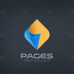 دانلود لوگو رسانه دیجیتال با دو رنگ آبی و طلایی