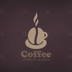 دانلود وکتور لوگو قهوه و کافه با رنگ قهوه ای