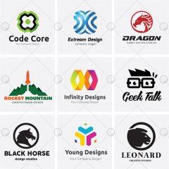 دانلود مجموعه لوگو های خلاقانه وکتور