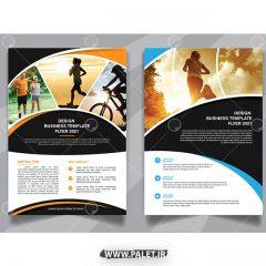 دانلود طرح وکتور فلایر تراکت ورزشی دیزاین خارجی