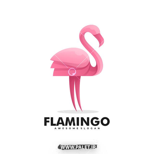 وکتور لوگو فلامینگو با رنگ صورتی