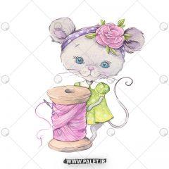 دانلود وکتور کودکانه عروسکی بچه موش