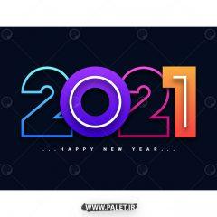 دانلود وکتور گرافیکی طرح سال نو 2021