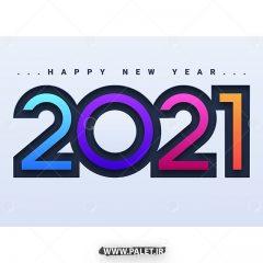 دانلود طرح وکتور 2021 با رنگبندی زیبا و جذاب
