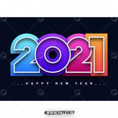 دانلود لایه باز طرح رنگی 2021 با پس زمینه مشکی