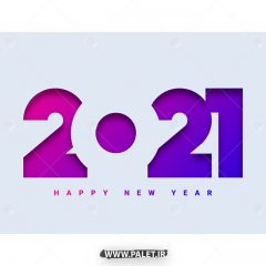 دانلود طرح وکتور 2021 با رنگ بنفش