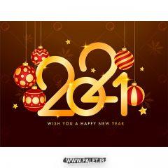 دانلود طرح وکتور تبریک سال نوی 2021 طراحی رویایی