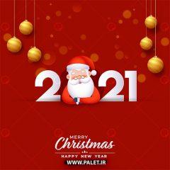 دانلود طرح وکتور تبریک سال نوی 2021 و بابانوئل