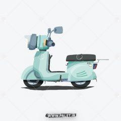 دانلود طرح وکتور موتور سیکلت کارتونی کلاسیک