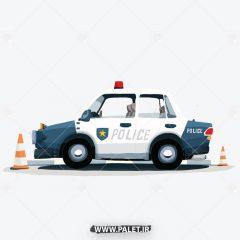 دانلود وکتور ماشین پلیس کارتونی