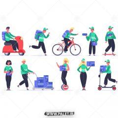 دانلود وکتور کاراکتر مرد و زن ورزشکار