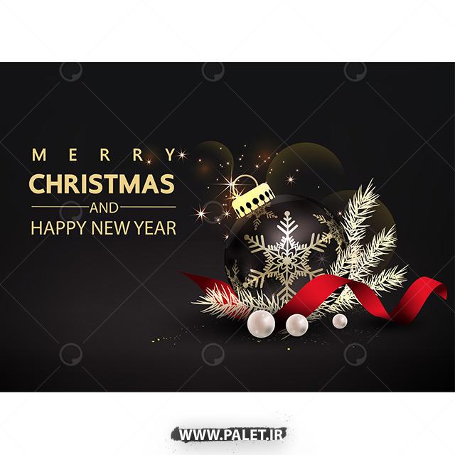 دانلود طرح وکتور مناسبتی کریسمس نور افشانی