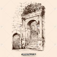 مجموعه طرح وکتور اماکن تاریخی و گردشگری