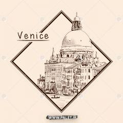 محموعه وکتور اماکن تاریخی و توریستی ونیز
