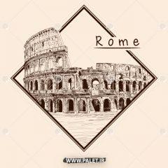 دانلود مجموعه وکتور شهر رم