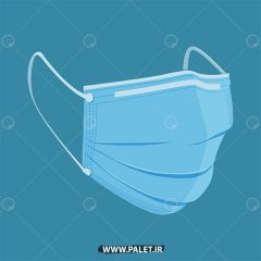 دانلود طرح وکتور ماسک آبی با پس زمینه آبی