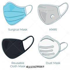 دانلود وکتور انواع طرح ماسک های مختلف