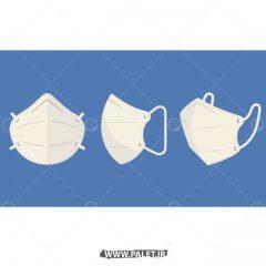 دانلود وکتور سه ماسک سفید در جهات مختلف