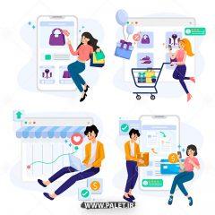 دانلود مجموعه وکتور کاراکتر انسان خرید اینترنتی