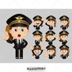 دانلود مجموعه وکتور کاراکتر خانم پلیس