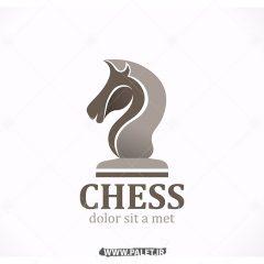 وکتور لوگو شرکتی طرح مهره شطرنج