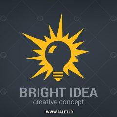 دانلود لوگو شرکتی طرح انتزاعی لامپ