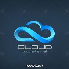 وکتور لوگو شرکتی طرح 3بعدی ابری